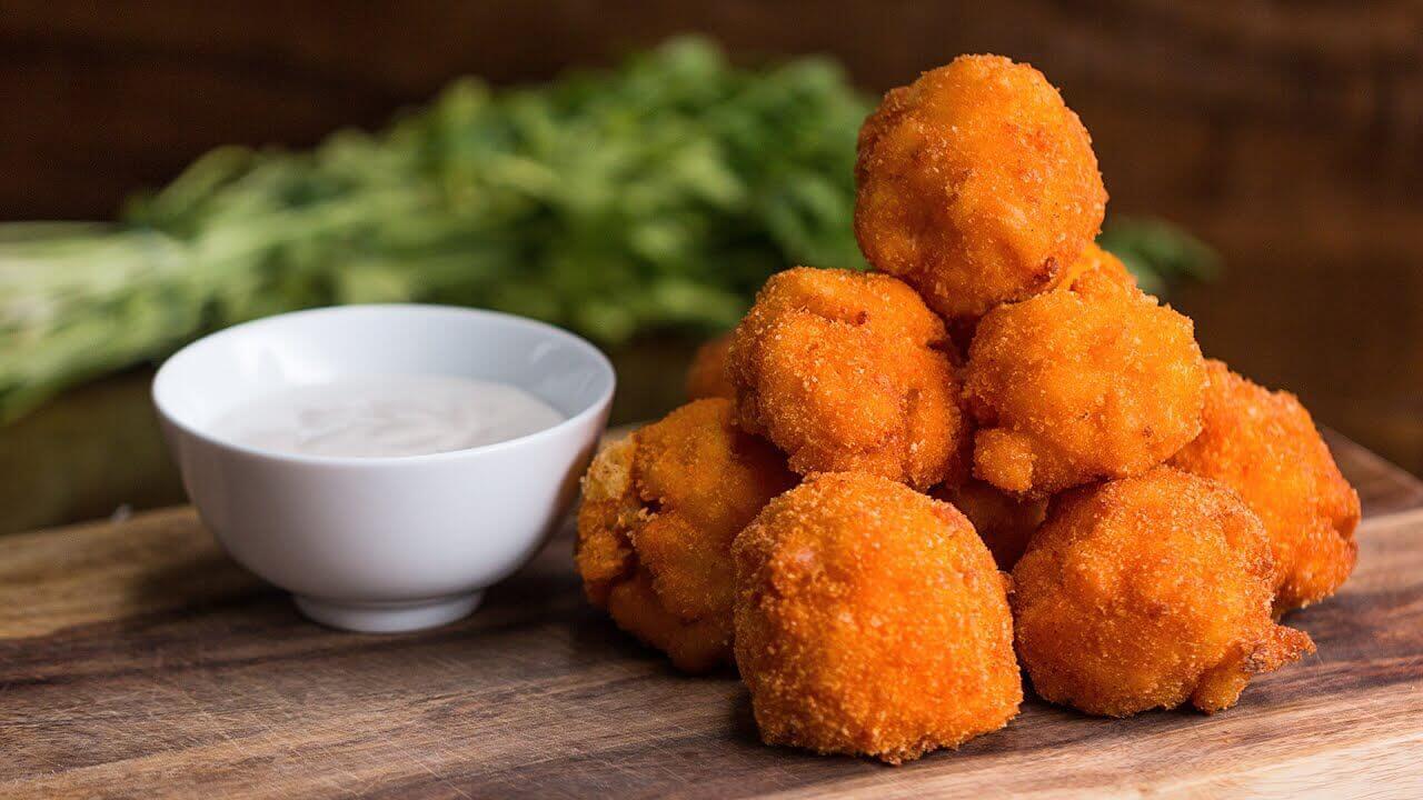 Сырные шарики из макарон